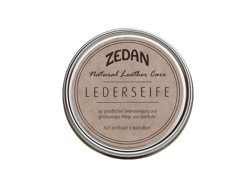 Zedan Natural Leather Care Lederseife NCP zertifiziert