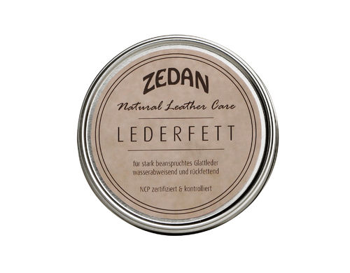 Zedan Natural Leather Care Lederfett NCP zertifiziert